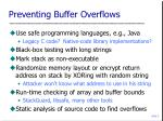 preventing buffer overflows