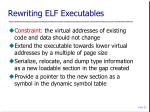 rewriting elf executables
