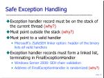 safe exception handling
