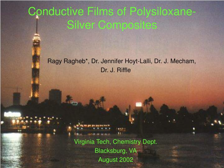 conductive films of polysiloxane silver composites n.
