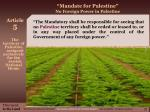 mandate for palestine no foreign power in palestine