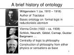 a brief history of ontology9