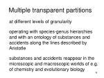 multiple transparent partitions