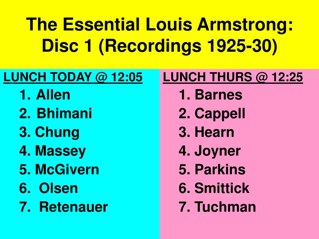 the essential louis armstrong disc 1 recordings 1925 30 l.