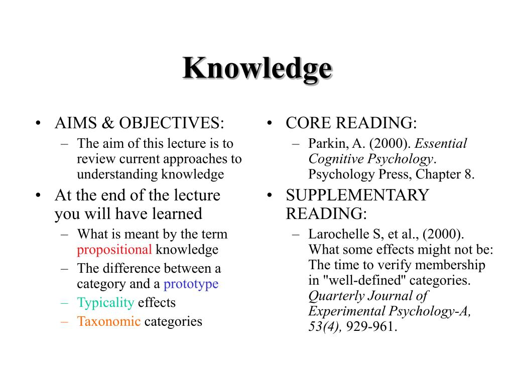 AIMS & OBJECTIVES: