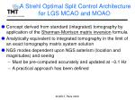 a strehl optimal split control architecture for lgs mcao and moao