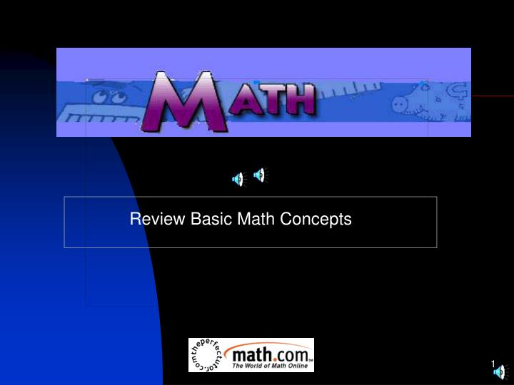 review basic math concepts n.