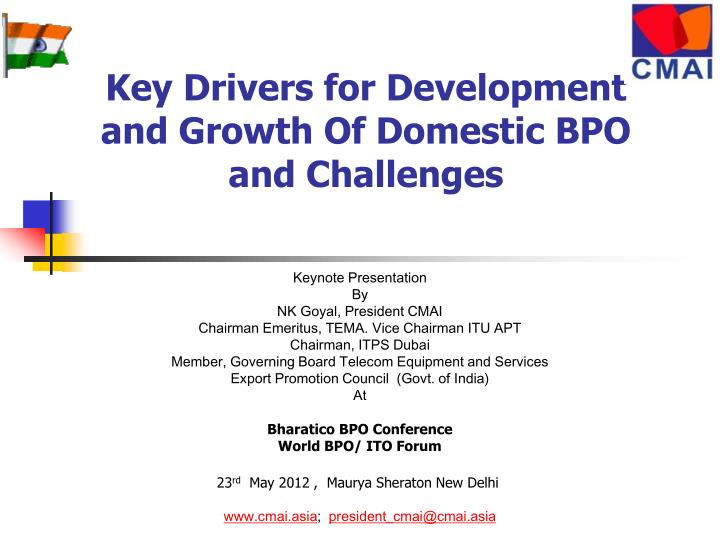 key drivers for development and growth of domestic bpo and challenges n.