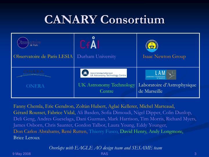 Canary consortium