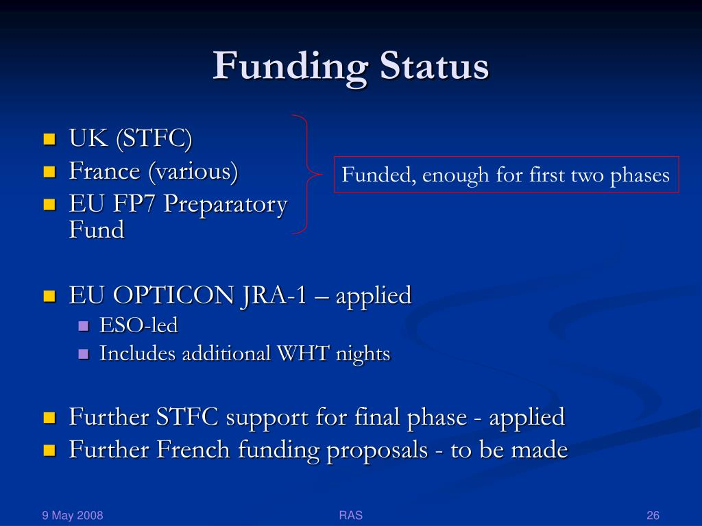 Funding Status
