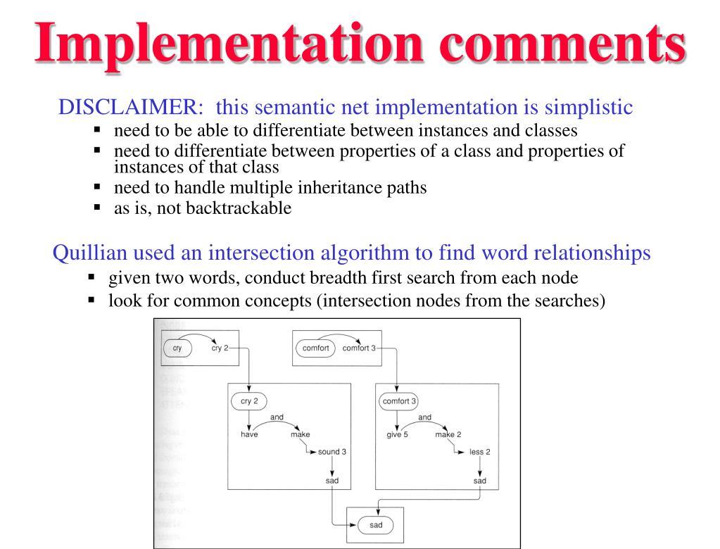Implementation comments