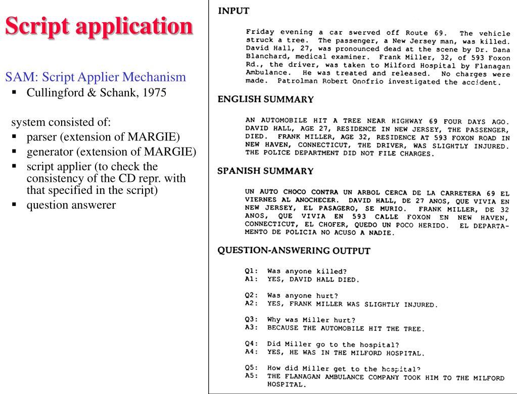 Script application