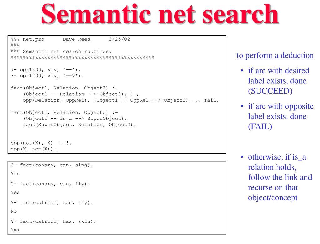 Semantic net search
