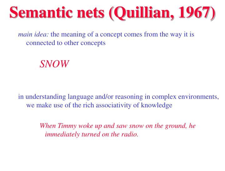 Semantic nets quillian 1967
