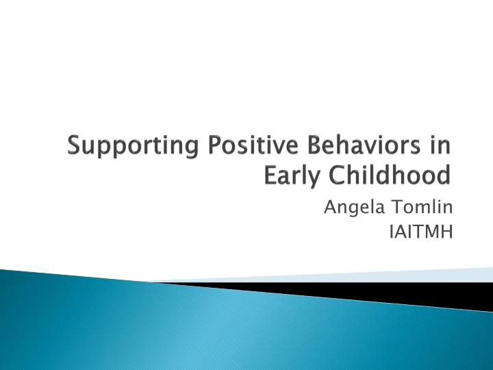 supporting positive behaviors in early childhood n.