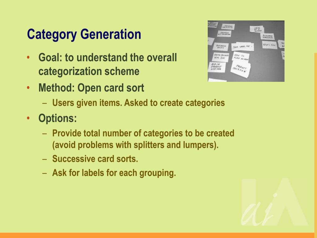 Category Generation