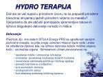 hydro terapija