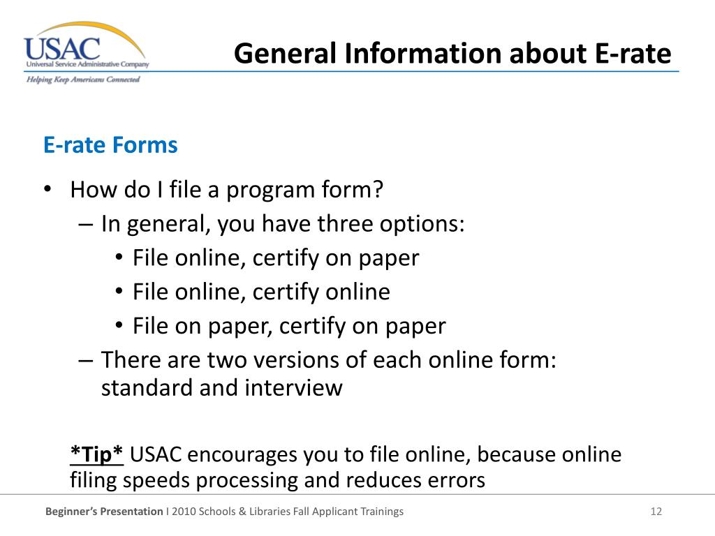 E-rate Forms