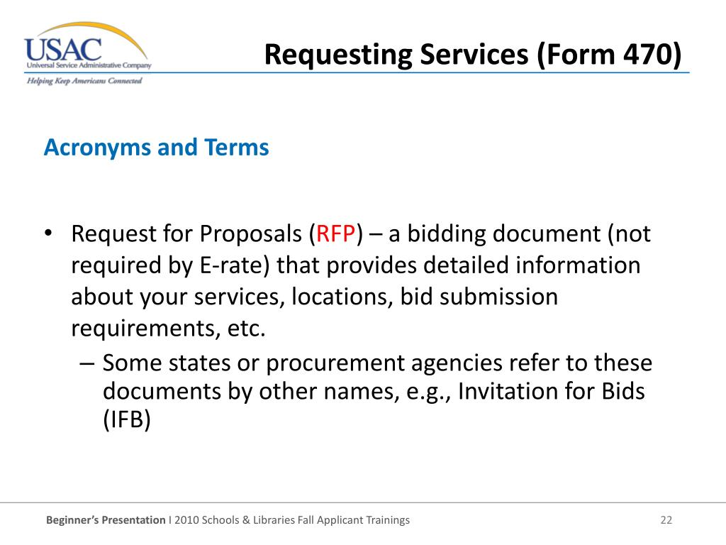 Request for Proposals (