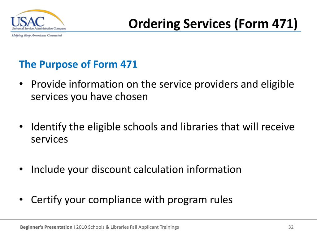 Provide information on the service providers and eligible services you have chosen