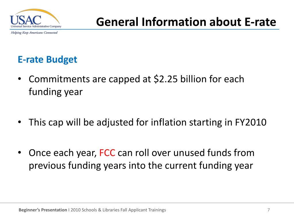 E-rate Budget