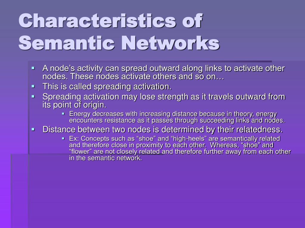 Characteristics of Semantic Networks