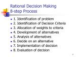 rational decision making 8 step process