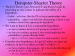 dempster shaefer theory
