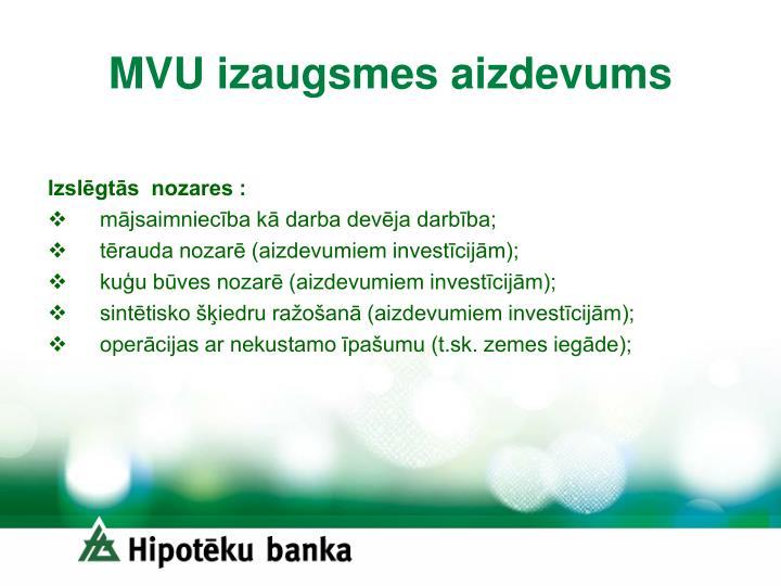 MVU izaugsmes aizdevums