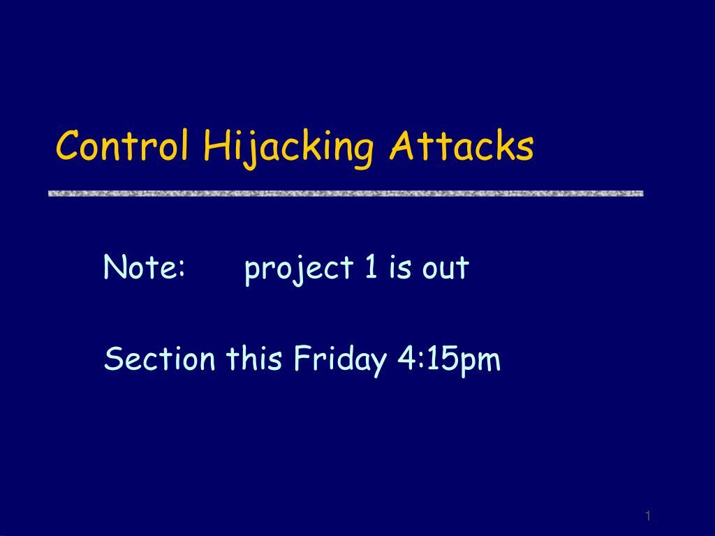 control hijacking attacks l.