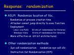 response randomization