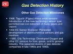 other gas detection milestones