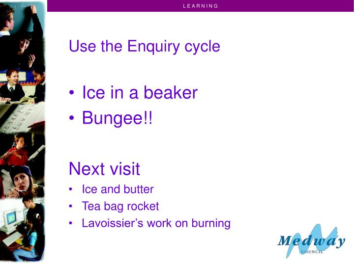 Use the Enquiry cycle