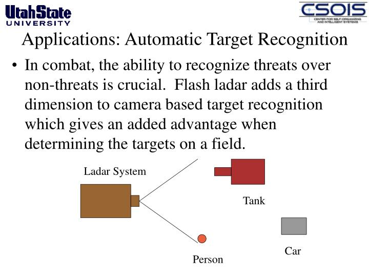 Applications: Automatic Target Recognition
