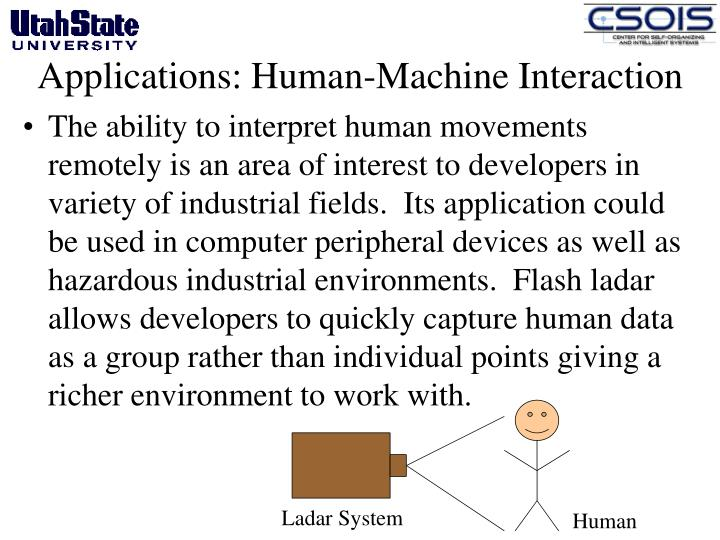 Applications: Human-Machine Interaction