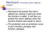 memguard preventing return address changes