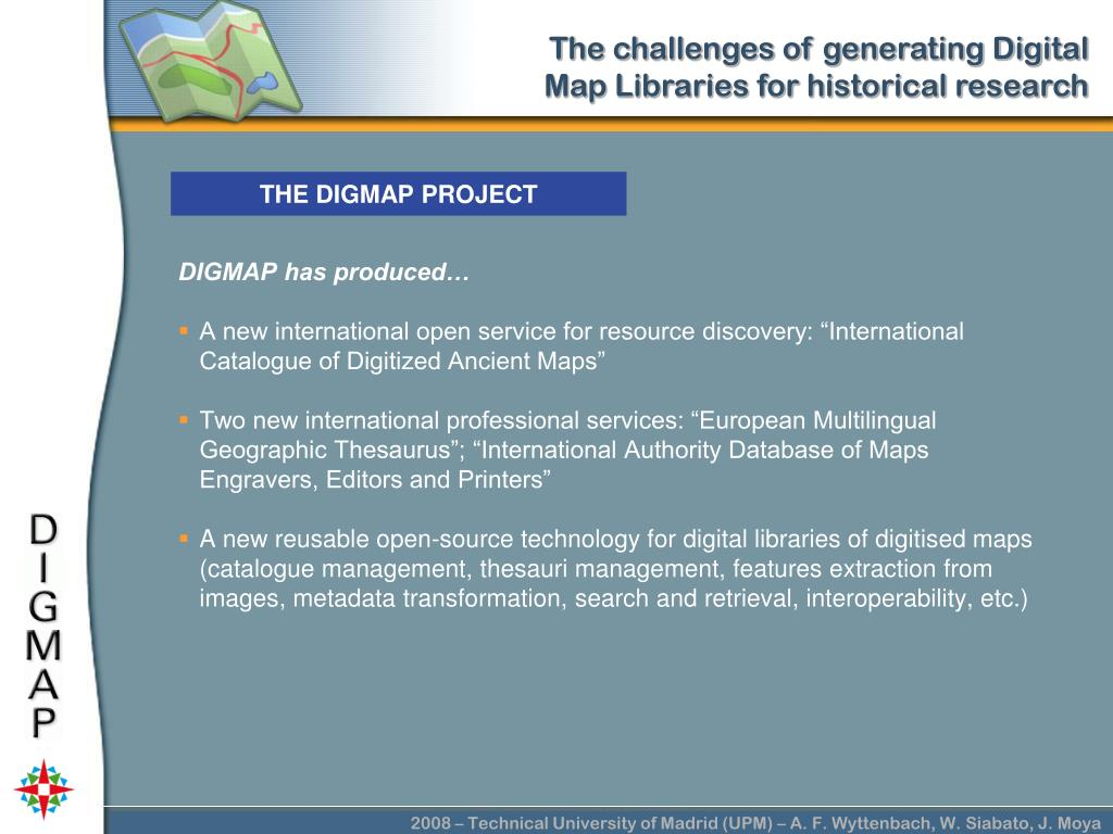 THE DIGMAP PROJECT