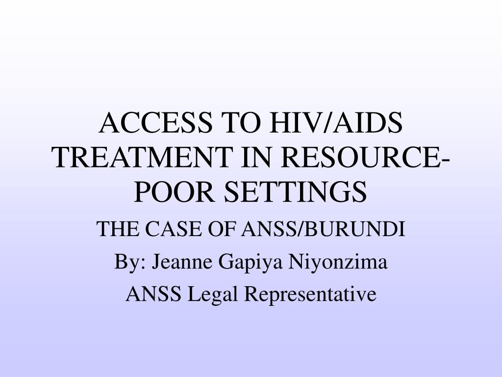 the case of anss burundi by jeanne gapiya niyonzima anss legal representative l.