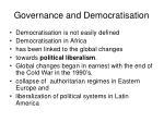 governance and democratisation7