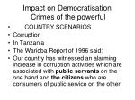 impact on democratisation crimes of the powerful14
