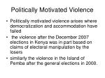 politically motivated violence