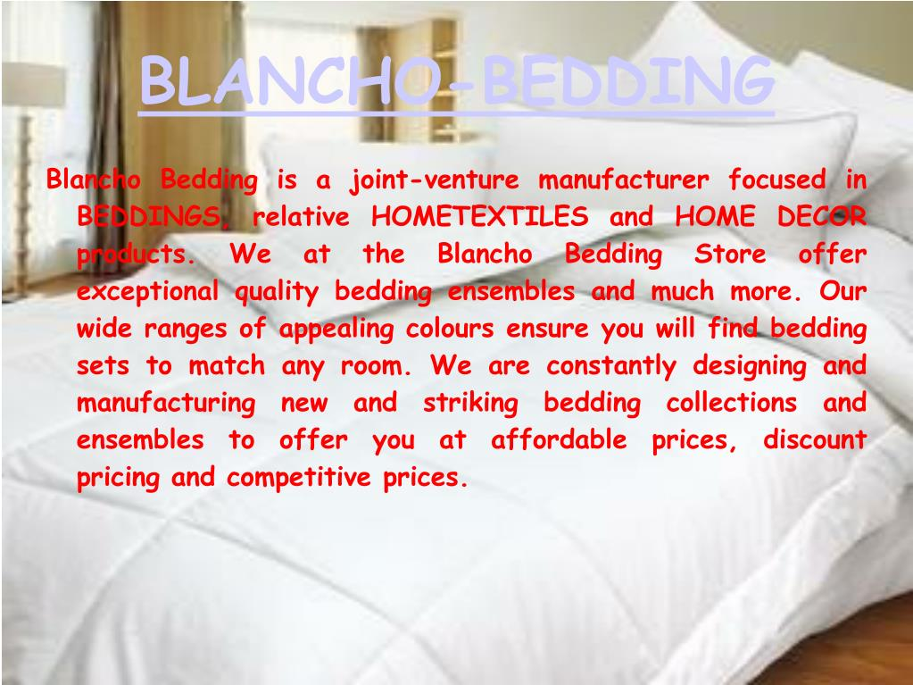 blancho bedding l.
