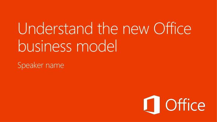 understand the new office business model n.