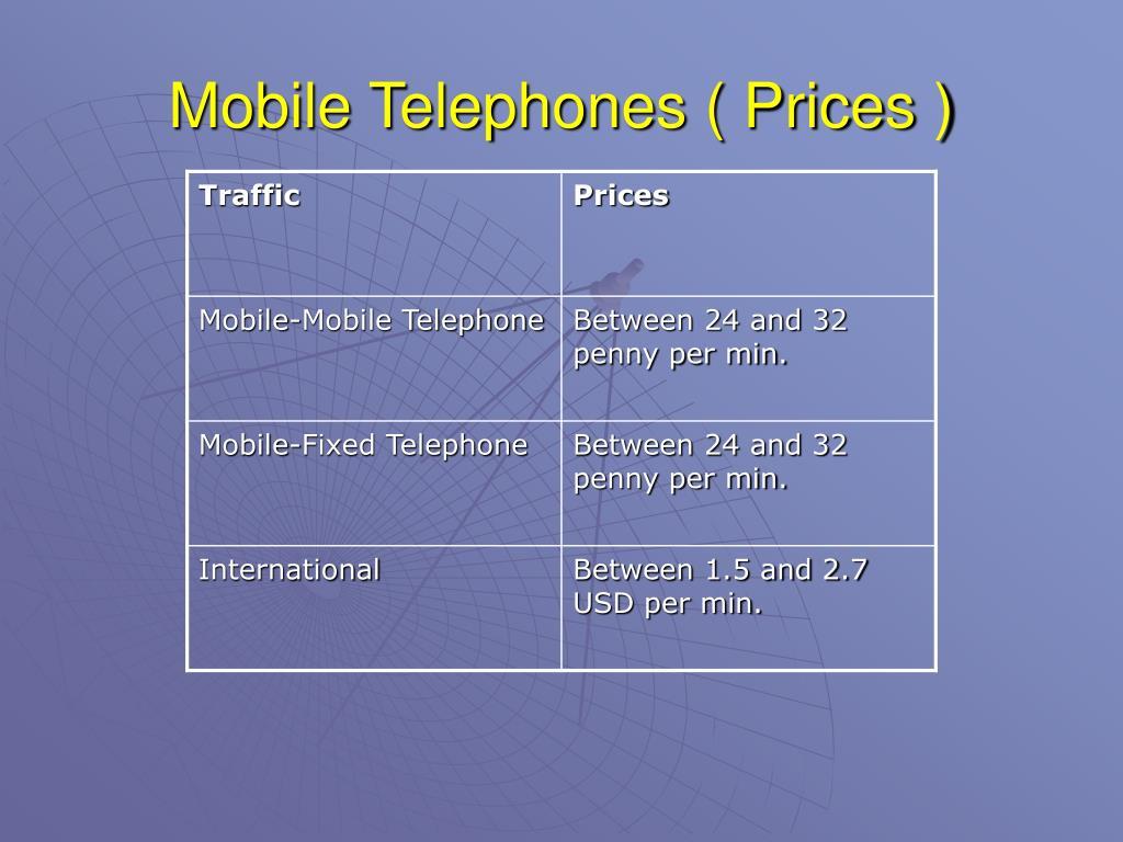 Mobile Telephones ( Prices )