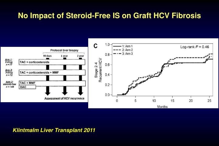 No Impact of Steroid-Free IS on Graft HCV Fibrosis