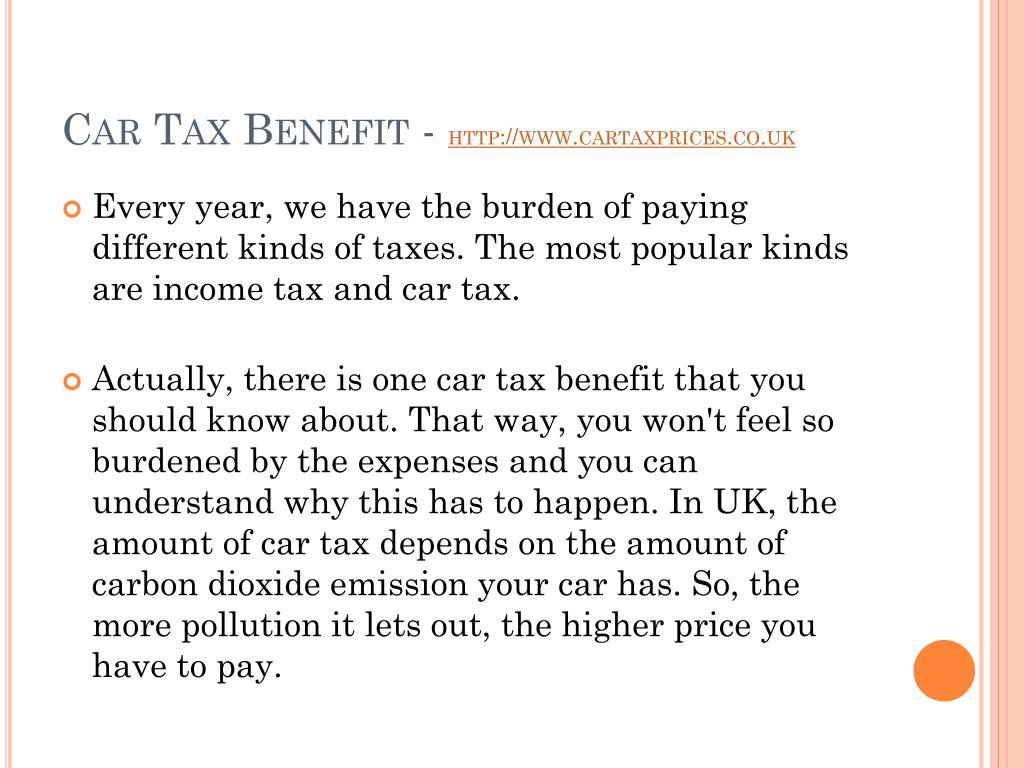 Car Tax Benefit -