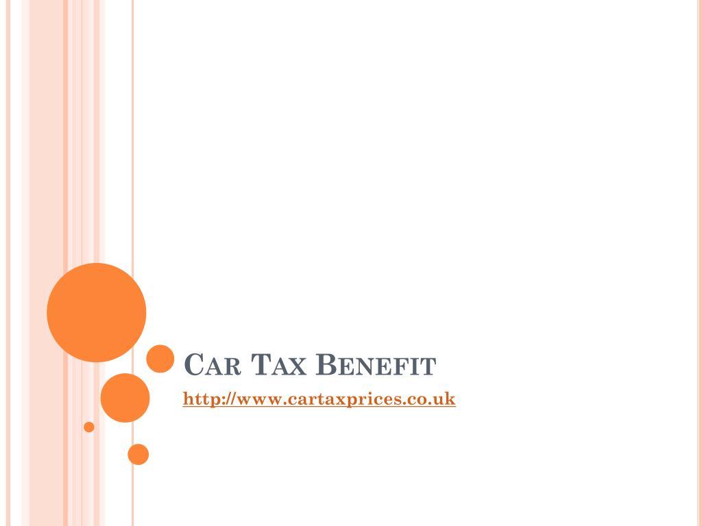 car tax benefit l.