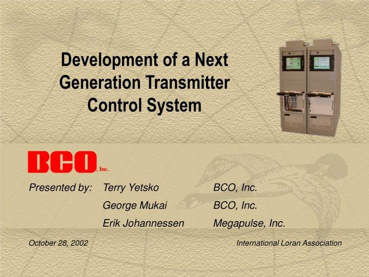 development of a next generation transmitter control system n.
