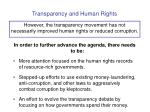 transparency and human rights