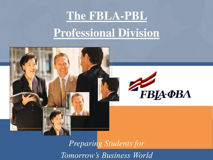 the fbla pbl professional division n.